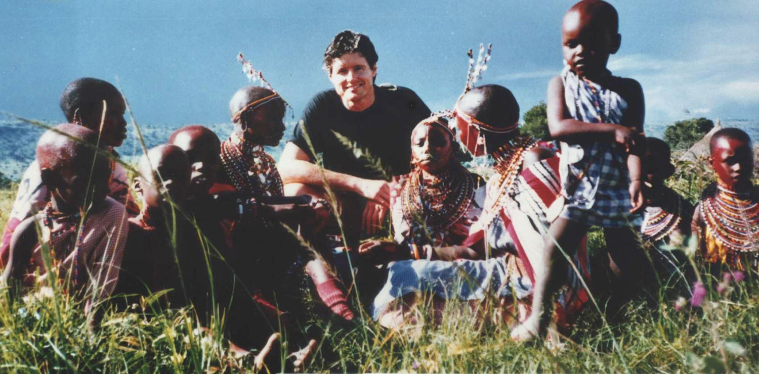 Tim with Masai for ROHAN